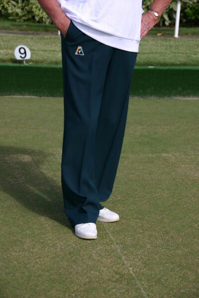 Domino Lawn Bowls Clothing - Tasmania - Bottle Green