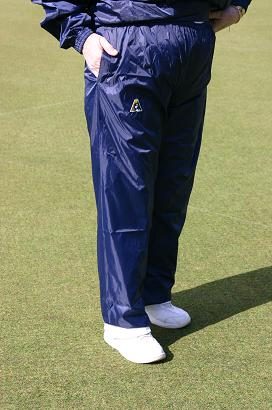 Domino Lawn Bowls Garements Junior Navy Ladies Waterproofs Spray Pants - waterproof pants for bowling