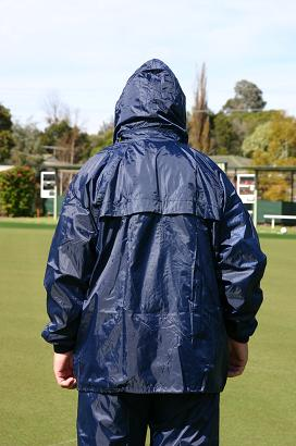 Domino Lawn Bowls Garements - Junior Navy Ladies Rainwear Full Set, wet weather gear for bowling