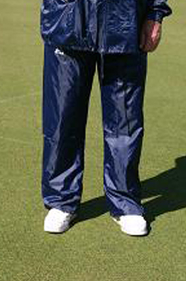 Domino Lawn Bowls Garements Junior Navy Ladies Waterproofs Spray Pants, wet weather gear for bowling