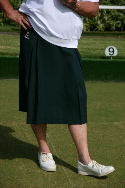 Domino Lawn Bowls Garements - Tasmania - Bottle Green - Skirt