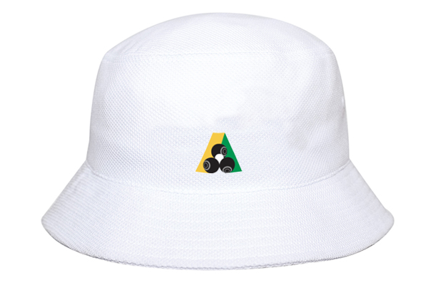 Domino Lawn Bowls Clothing - Double Pique Mesh Bucket Hat